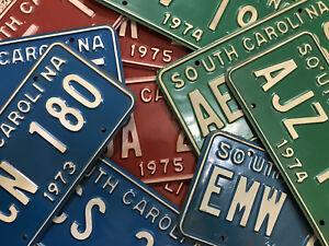 (choice) South Carolina license plate - 1970's 1971 1972 1973 1974 1975