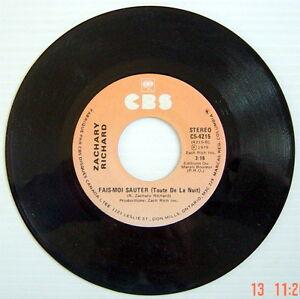 DISQUE-45-TOURS-DE-1979-DE-ZACHARY-RICHARD-FAIS-MOI-SAUTER-MES-SOULIERS-ROUGE