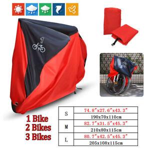 Fahrrad-Abdeckplane-Fahrradgarage-Fahrradhuelle-Schutzhuelle-Fuer-1-2-3-Fahrraeder