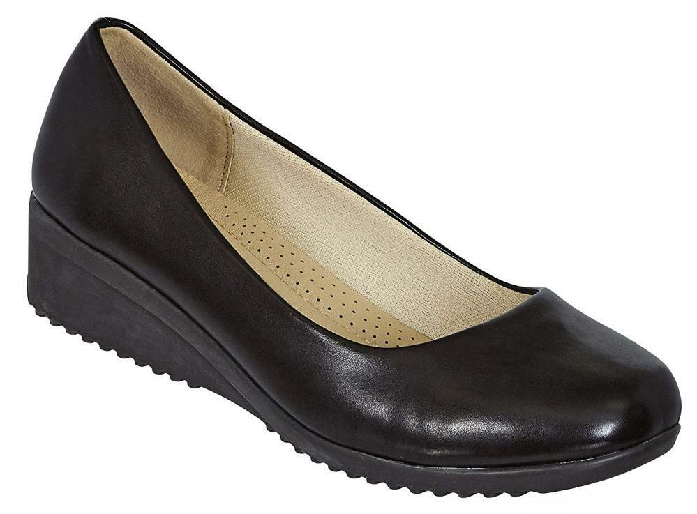 Cambridge Select Women's Closed Toe Slip-On Padded Comfort Low Wedge Wedge Wedge af6860