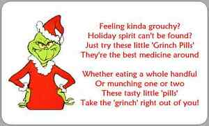 It's just a graphic of Revered Grinch Pills Printable