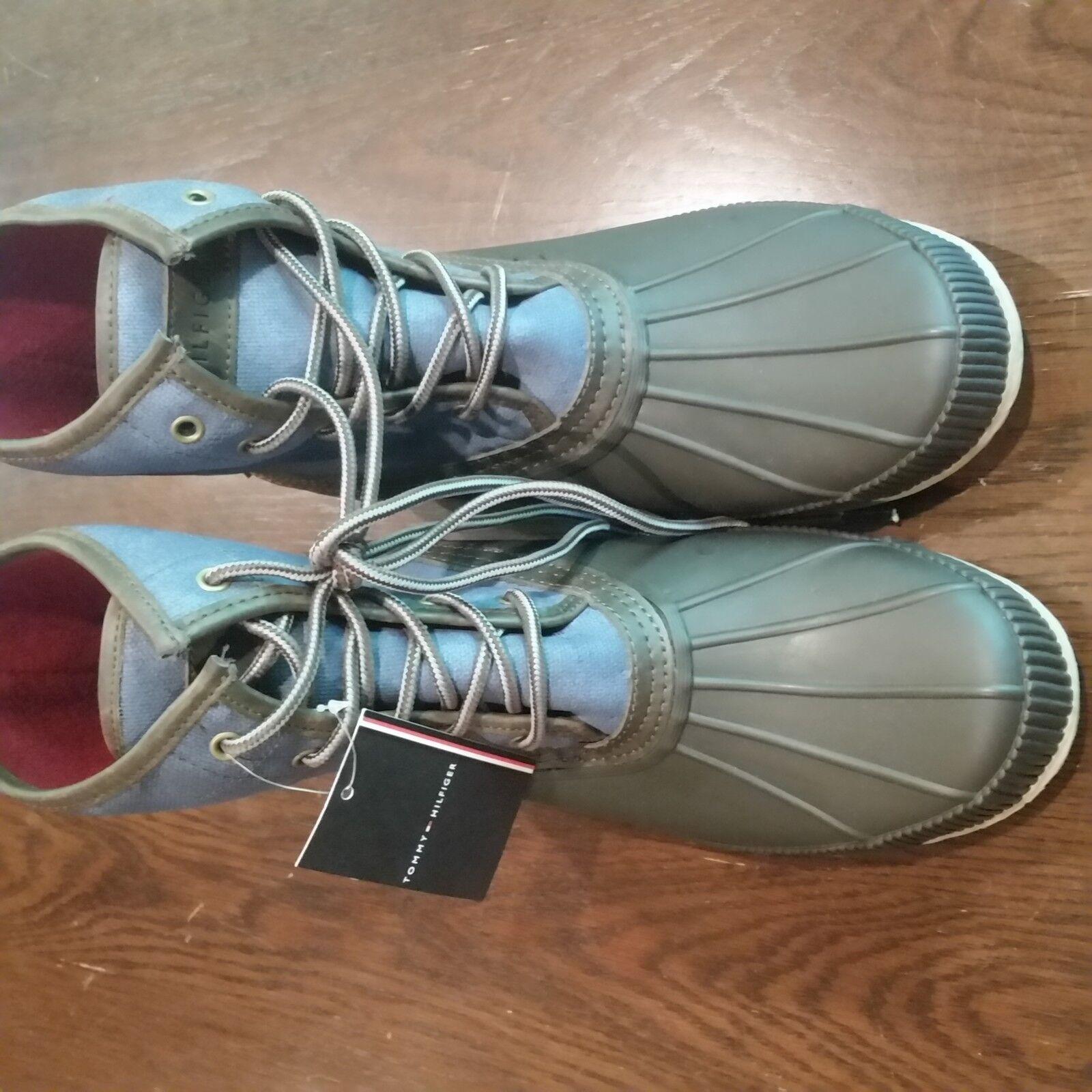 Tommy Hilfiger Men's Dark Blue Collins Waterproof Duck Boot Shoes 13 New