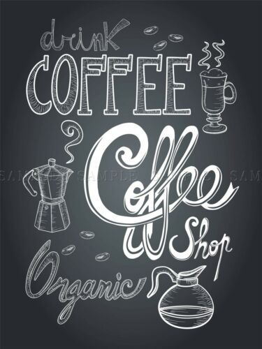 COFFEE CHALKBOARD ILLUSTRATION COPY PHOTO ART PRINT POSTER PICTURE BMP2213A