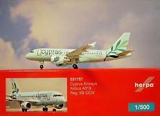 Herpa Wings 1:500  Airbus A319  Cyprus Airways  5B-DCW  531757  Modellairport500