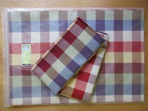 Paprika Plaid Longaberger Set of 2 Fabric Napkins
