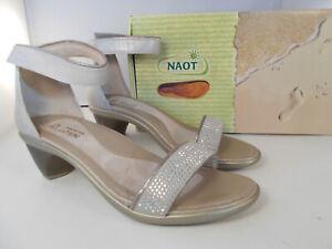 NAOT-Progress-Quartz-Silver-Dress-Heels-Sandals-Women-039-s-Size-8-8-5-New-In-Box