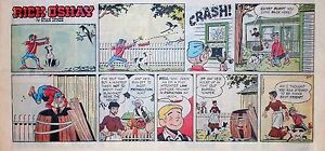 Rick-O-039-Shay-by-Stan-Lynde-full-color-Sunday-comic-page-VFn-August-7-1966