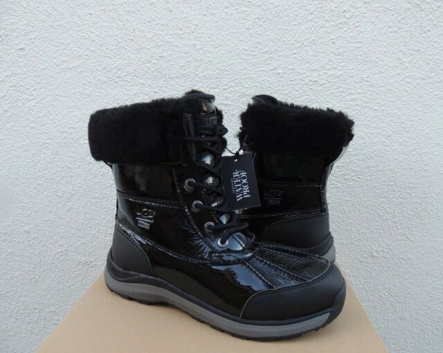 460dd26e4ef UGG 1098532 Woman's Adirondack III Black Patent Leather Waterproof BOOTS 8m