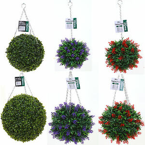 Bon Image Is Loading ARTIFICIAL TOPIARY BALL BUXUS GRASS EFFECT HANGING GARDEN
