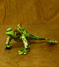 Kubla Craft Ornament KC4820B FROG, ARTICULATED, NEW From Retail Store, Mint/Box