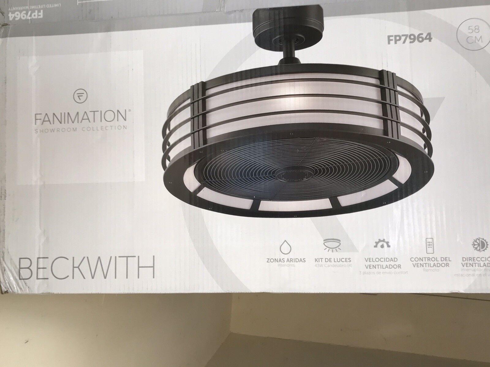 Fanimation Fp6717bn Ascension Ceiling Fan Brushed Nickel For Sale Online Ebay