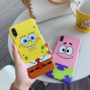 Cute-3D-SpongeBob-Patrick-Star-Phone-Case-Cover-For-iPhone-11Pro-Xs-Max-XR-8Plus