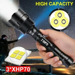 LED-Powerfu-Flashlight-3-XHP70-Torch-Rechargeable-5-Modes-Lamp-Ultra-Brigh