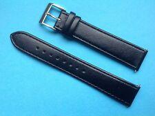 Original Junghans Lederband schwarz 027/3700 Max Bill