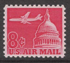 Scott-C64-Airliner-y-Capitol-Dome-MNH-8c-1962-sin-Usar-Nuevo-Aereo-Sello