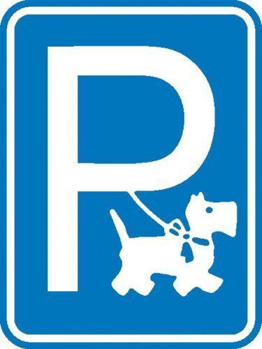Schild Hundeparkplatz Alu 15x20cm 11.5348