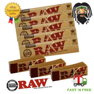 RAW-CLASSIC-Rolling-Papers-King-Size-Slim-110mm-with-Roach-Filter-Tips-Rizla-Kit