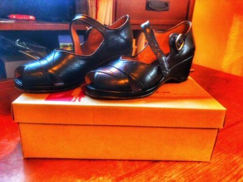 Remix Lindy 2 Vintage Classic Black Leather Shoes