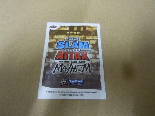 Carte catch Slam Attax Mayen 2010 Rouge The Great Khali