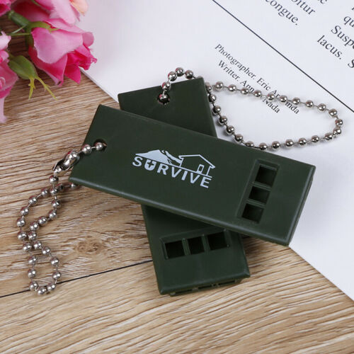 1PC Outdoor Survival Whistle First Aid Kits Outdoor Emergency Signal RescueBB