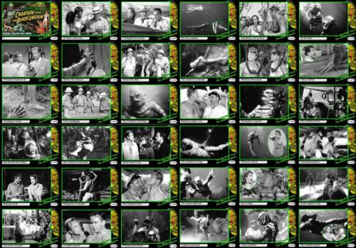 The Creature from the Black Lagoon 1954 movie storyboard trading cards.