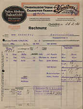 DRESDEN, Rechnung 1924, Orientalische Tabak- und Zigaretten-Fabrik YENIDZE