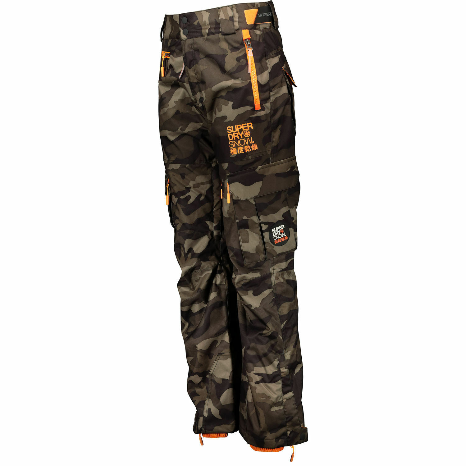 SUPERDRY Men's Snow Ski Trousers, Green Camouflage, sizes S M L
