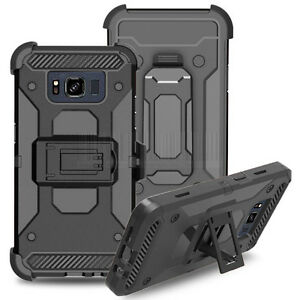 Rugged-Hybrid-Etui-Case-Dur-Armor-Support-Housse-Pour-Samsung-Galaxy-S8-Active