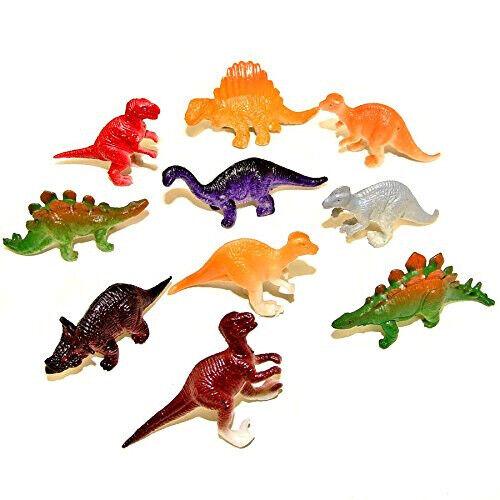 Nouveau Assortiment de 10 Mini Plastique Dinosaure Jouets