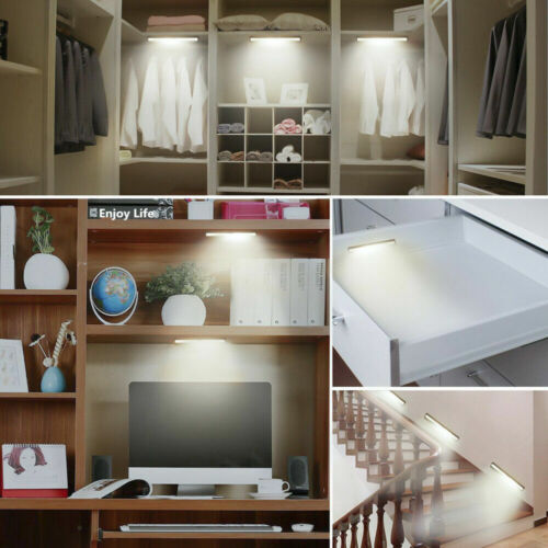 RECHARGEABLE LED Toilet Bathroom Night Light PIR Motion Activated Seat Sensor