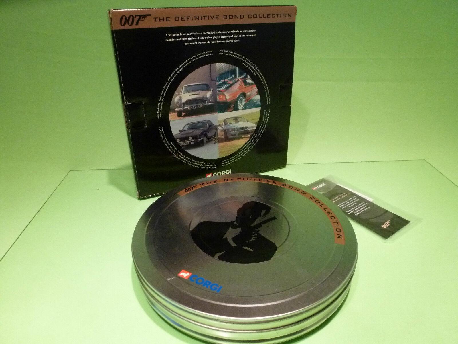 CORGI leksaker CC99106 JAMES BOND 007 - DEFINITIV BOND FILM KANISTER 4 bilS - NMIB