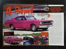 1970 Plymouth 340 Duster - 2 Page Article - Free Shipping