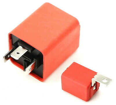 3-Pin FLL008 FL3 Electronic LED Flasher Relay Fix Compatible With Car LED Turn Signal Bulbs Hyper Flash Issue iJDMTOY 1