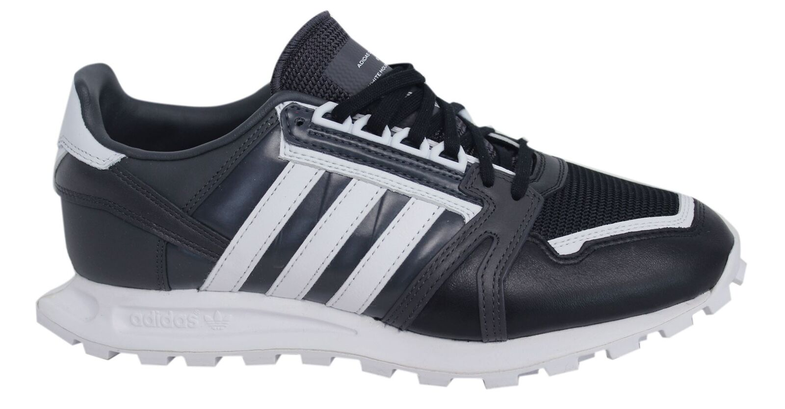 Adidas WM Racing 1 Lace Up Black White Synthetic Mens Trainers S81910 U46