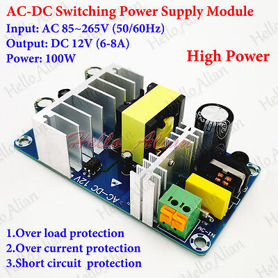 100W AC-DC Isolated Switching Power Supply Module AC 110V 220V to DC 12V  6A-8A 699941127558 | eBay
