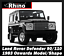3x Rhino Delta Roof Rack Ladder Bars Load Stops Fits Land Rover Defender 90 110