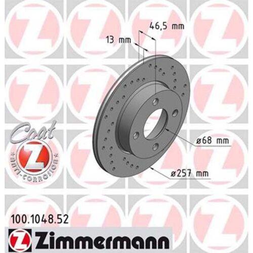2 Zimmermann Sport-Bremsscheiben vorne AUDI 80 B3 100 C3 44 257mm