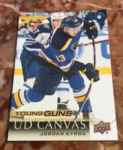 Jordan-Kyrou-2018-19-Upper-Deck-Young-Guns-UD-Canvas-RC-Blues