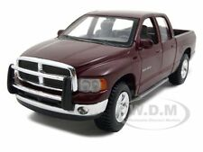 2002 DODGE RAM QUAD CAB BURGUNDY 1/27 DIECAST MODEL CAR BY MAISTO 31963