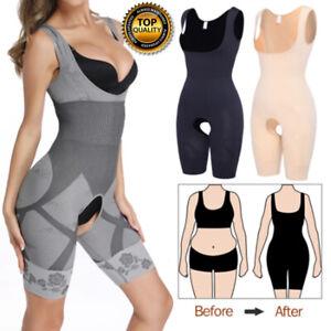 Women Waist Trainer Open Crotch Body Shaper Tummy Control Shapewear Hourglass US