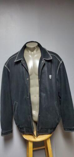 Vintage Timberland Men's BlackCollared Leather Jac