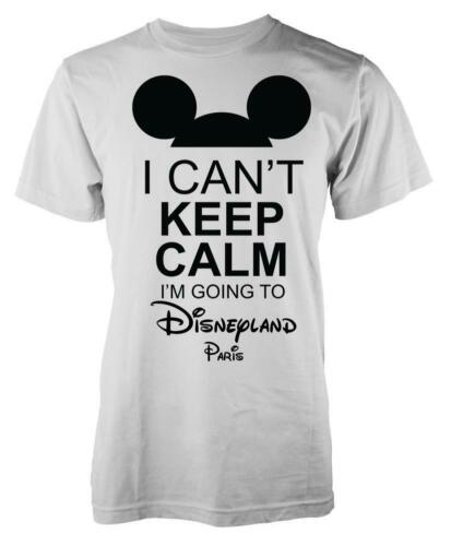 Mickey I Can/'t Keep Calm I/'m Going To Disneyland Paris Adult T Shirt