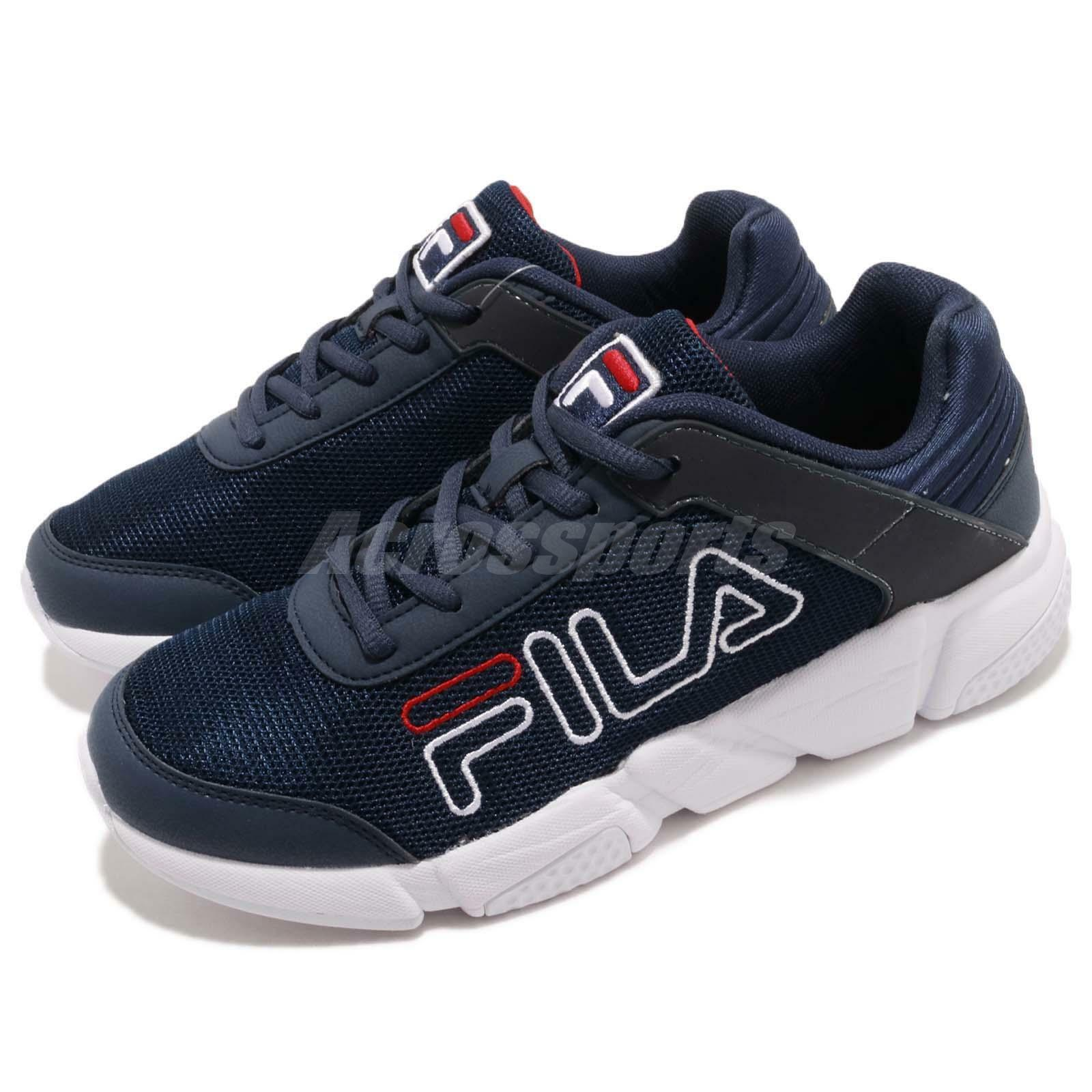Fila J526S Navy Blanc Rouge Mens Chaussures Athletic Running Chaussures Mens Lifestyle Baskets 9c6d05