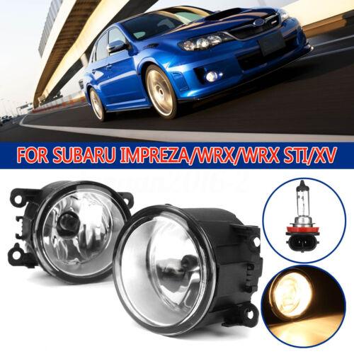 Pair Front Bumper Fog Light Lamp Assenbly For Subaru Impreza Crosstrek