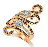 Islamic Muslim Ring Women's Swirly Curled Cubic Zirconia India Ring Jewelry Gift