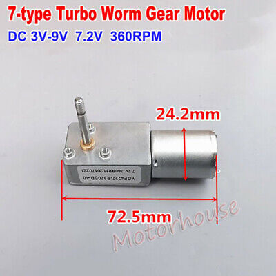 Details about  /DC 1.5V-4.5V 3V 200RPM Slow Speed Micro 180 Full Metal Gearbox Gear Motor Robot