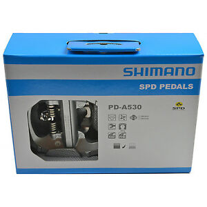 new 2018 shimano pd a530 spd road touring platform pedals. Black Bedroom Furniture Sets. Home Design Ideas