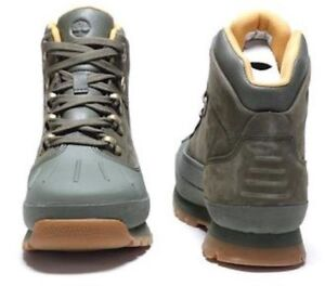 b70ca2d05f9 Details about TIMBERLAND JUNIOR'S/womens EURO HIKER SHELL TOE BOOTS A1Q4 M  GREEN