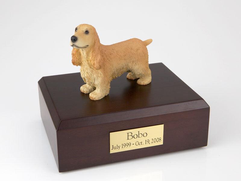 negozio a basso costo English Cocker Pet Funeral Cremation Urn Avail. in 3 Different Different Different Colores & 4 Dimensiones  risparmia fino al 50%