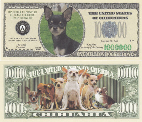 50 Chihuahua Dog Novelty Currency Money K-9 Bills Lot